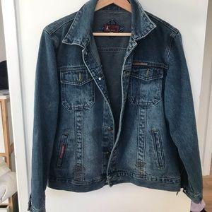 OVER SIZED jean jacket dark wash